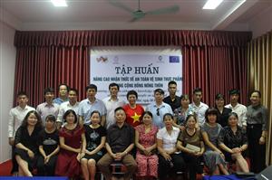 Lớp tập huấn nâng cao nhận thức về vệ sinh an toàn thực phẩm trong cộng đồng nông thôn