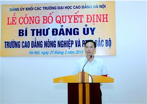 Lễ công bố quyết định bí thư Đảng ủy