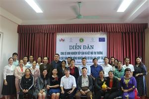 Diễn đàn chia sẻ kinh nghiệm tiếp cận và kết nối thị trường cho các sản phẩm nông nghiệp hữu cơ của các hợp tác xã