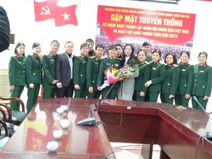 Gặp mặt truyền thống kỷ niệm ngày thành lập Quân đội nhân dân Việt Nam và ngày hội Quốc phòng toàn dân 22/12/2018