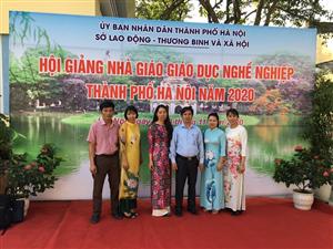 Trường Cao đẳng Nông nghiệp & PTNT Bắc Bộ với Hội giảng nhà giáo giáo dục nghề nghiệp TP Hà Nội năm 2020