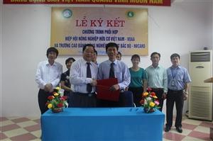 Lễ ký kết chương trình phối hợp Hiệp hội nông nghiệp hữu cơ Việt Nam – VOAA và trường Cao đẳng Nông nghiệp và PTNT Bắc Bộ