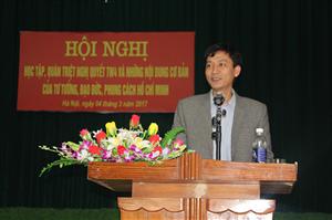 Đảng bộ Trường Cao đẳng Nông nghiệp và Phát triển nông thôn Bắc Bộ tổ chức hội nghị học tập, quán triệt nghị quyết trung ương 4 và những nội dung cơ bản của Tư tưởng, đạo đức, phong cách Hồ Chí Minh
