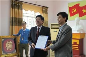 Lễ trao quyết định nghỉ hưu cho thầy Nguyễn Công Phong và ra mắt ban giám hiệu mới trường Cao đẳng Nông nghiệp và Phát triển nông thôn bắc Bộ