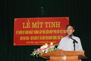 Lễ mít tinh kỷ niệm 87 năm ngày thành lập Hội liên hiệp phụ nữ Việt Nam và Hội thi nam công trổ tài