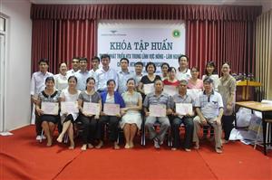 Khóa tập huấn TOT về phát triển hợp tác xã trong lĩnh vực Nông - Lâm nghiệp cho các hợp tác xã, giảng viên NVCARD