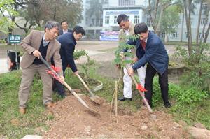 Lễ phát động tết trồng cây kỉ niệm ngày thành lập trường (16/1/1961-16/1/2019)