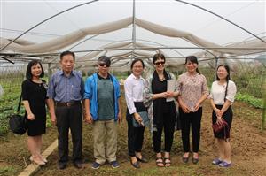 Trường Cao đẳng Nông nghiệp và PTNT Bắc Bộ tiếp chuyên gia giám sát đánh giá của Liên minh Châu Âu - EU và mạng lưới phát triển nguồn nhân lực Nông thôn Việt Nam - VietDhrra