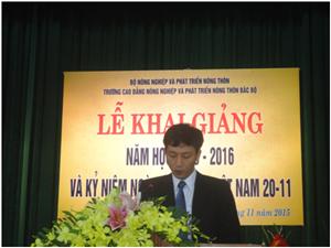 Khai giảng năm học 2015 - 2016 và chào mừng ngày Nhà giáo Việt Nam 20.11
